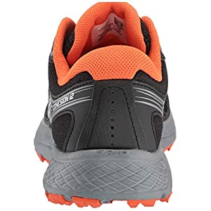 Saucony Men's VERSAFOAM Cohesion TR12 Trail Running Shoe, Black/Grey/Orange, 13 M US