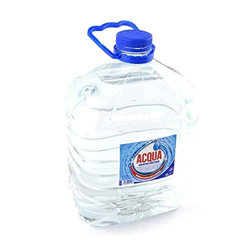 5 litros de agua purificada ideal para planchas y baterías de agua destilada a solo usos domésticos e industriales.