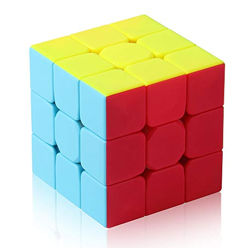 ROXENDA 3x3 Speed Cube, 3x3x3 Qiyi Warrior S Speed Cube Stickerless Frosted Puzzle Magic Cube