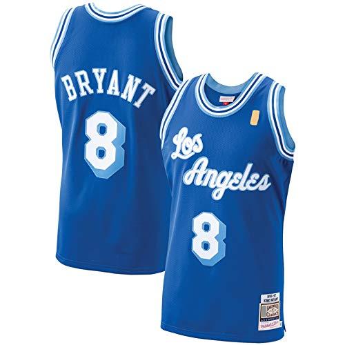 YAMADAI Royal -Lakers - Jersey de baloncesto Bryant Sudadera Los Ángeles Personalizados para Hombre #8 Hardwood Classics Jugador Jersey Icono Edition-L