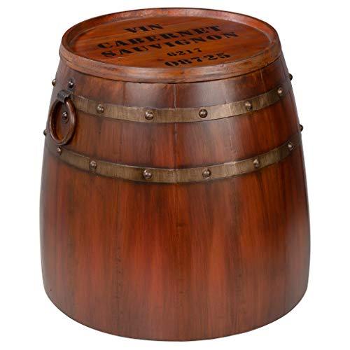 oak wine barrel table - 8