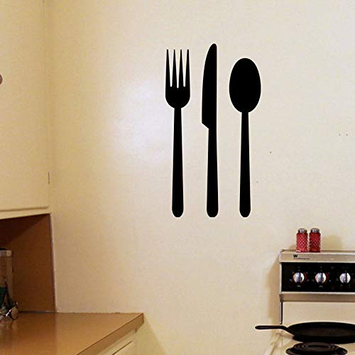 EricauBird Lebensmittel-Utensilien – Aufkleber für Familie, Kinderzimmer, Gabel, Messer, Löffel, Küche, Diner, Café, Bistro, Mamas, Küche, Retro-Küche, einfach anzubringen und zu entfernen