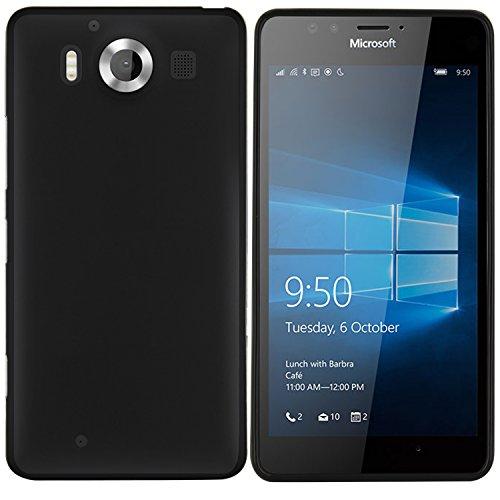 moodie Silikonhülle für Microsoft Lumia 950 Hülle in Schwarz - Hülle Schutzhülle Tasche für Microsoft Lumia 950