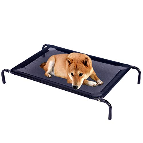 CKAIEE Dog Bed Elevated,Portable Raised Pet Dog Bed |Removable Cooling Mesh Hammock Breathable