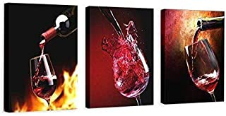 Nuolanart- Canvas Wall Art 3 Panels Framed Wine Canvas Prints for Home Decoration- P3S4060x3-1