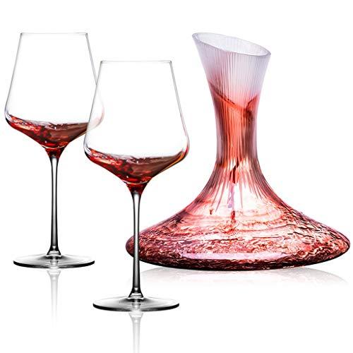 Copa De Vino De Cristal Juego De Decantador De Copa De Vino para El Hogar Vaso Multifunción 700 Ml Copa De Alta Capacidad Adecuado para Fiestas Regalos (Color : Clear-C, Size : 700ML)