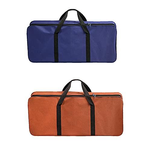 LIAWEI 80 x 35 cm barbacoa bolsa de almacenamiento de barbacoa barbacoa barbacoa bolsa de almacenamiento al aire libre camping portátil al azar Oxford bolsa de tela