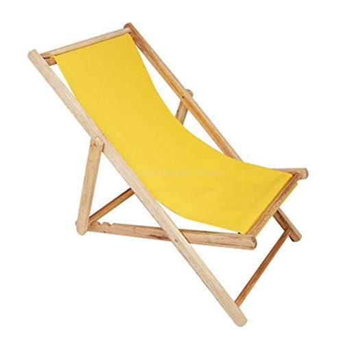 Spiaggina Pieghevole Outdoor pieghevole Beach Chair di legno solido + Oxford Canvas poltrona reclinabile portatile Pesca sedia regolabile in legno colorato Lounge Sedia da Esterno ( Color : 2 )
