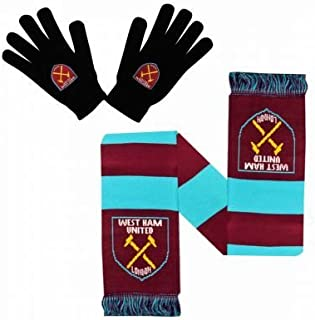 West Ham United Winter Warmers Gloves & Scarf Set