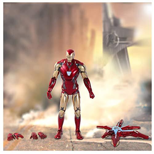 QKKJ Modelo De Acción De Iron Man, Las Articulaciones Pueden Moverse, Muebles De Decoración De Juguetes