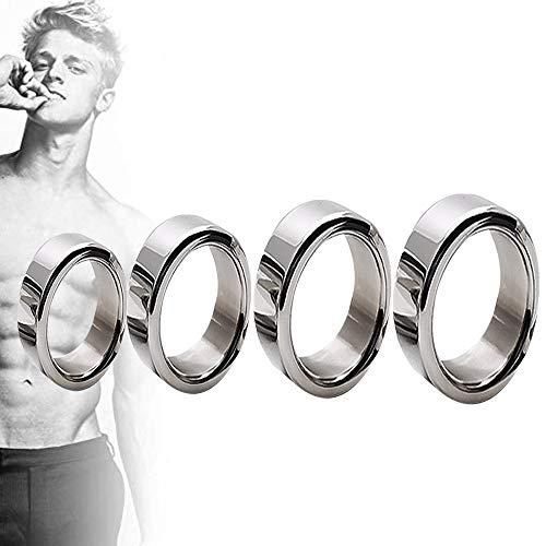 SUPER MAID Schwanzring, Edelstahl P-Ê-Ň-Ï-Sring T-Shirt Herren Delay Dauerhafte Sportring 4 Größen Geeignet Für Paar Anfänger Spielzeug Delay Ring Für Männer