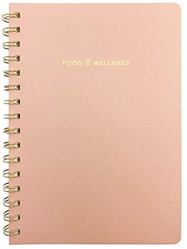 Kunitsa Co. Food and Exercise Journal for Women. Track Meals, Nutrition and Weight Loss - 90 days (Pink)