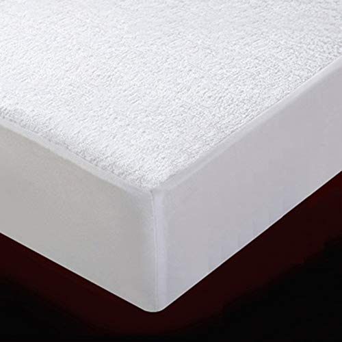 GHTTHJ Waterproof Mattress Protector, Breathable Soft Non Noisy Pad Cover, Bed Terry Toweling and Cotton Top Anti Allergy, 135X200+30cm,8