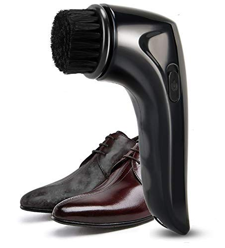 Electric Shoe Shine Care Kit,Shoe Polisher Brush Shoe Shiner Dust Cleaner Portable Wireless Leather Care Kit for Shoes, Bags, Sofa