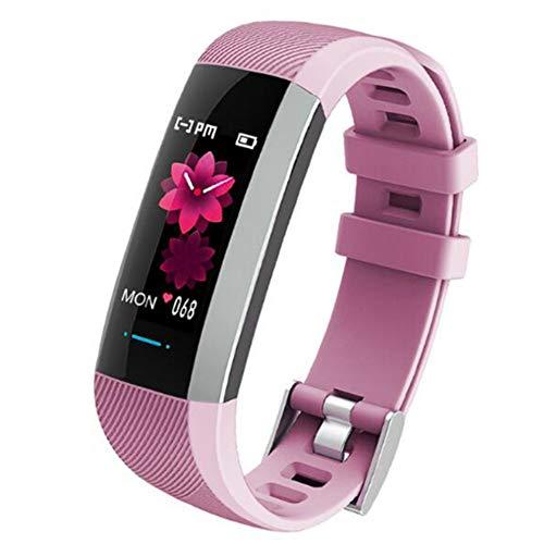 Wsaman IP68 Wasserdicht Aktivität Tracker, Smartwatch Schritt Kalorienzähler Fitness Tracker Fitness Fitness Armbanduhr mit Touch Screen für Android/iOS/Männer/Frauen, Sport Smart-Armband,Rosa