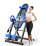 Macticy Premium Foldable Gravity Inversion Table Waist Inflatable Adjustment with Protective Belt Back