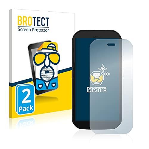 BROTECT 2X Entspiegelungs-Schutzfolie kompatibel mit Caterpillar Cat S42 H+ Bildschirmschutz-Folie Matt, Anti-Reflex, Anti-Fingerprint