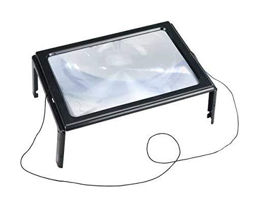 WENKO Leselupe LED Lupe mit LED Handlupe mit Beleuchtung Tischlupe mit Beleuchtung Lupenleuchte LED Leuchtlupe Leuchtlupen
