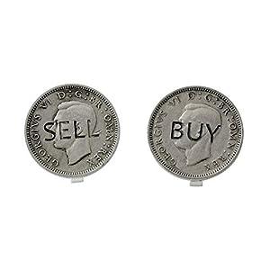 ポールスミス PAUL SMITH M1A COVR-ACOIN 82 「BUY」「SELL」イギリスコインモチーフ ボタンカバー 2個セット[男女兼用] [並行輸入品]