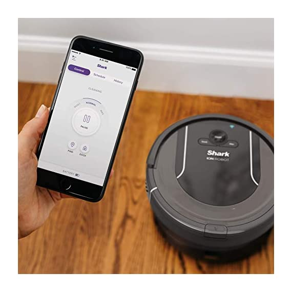 SHARK ION Robot Vacuum R85 WiFi-Connected with Powerful Suction, XL Dust Bin, Self-Cleaning Brushroll and Voice Control… 2 Shark has built upon a high performing Robot vacuum to deliver powerful suction, XL capacity, and advanced sensor technology for an incredible solution to everyday cleaning Designed for pet hair; Provides powerful floor and carpet cleaning with an xl dust bin and 3X more suction in max mode than the shark ion Robot R75 Download the shark clean app to receive continuous updates, create a cleaning schedule, or start your Robot from anywhere; Voice control available with Alexa or Google assistant