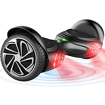 "TOMOLOO Hoverboard with Bluetooth Speaker and LED Lights Self-Balancing Scooter UL2272 Certified 6.5"" Wheel Electric Scooter for Kids and Adults"
