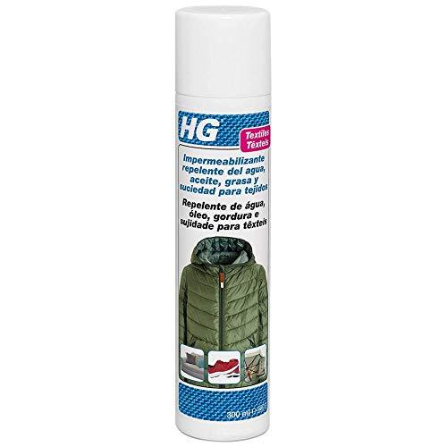 HG Impermeabilizante repelente del agua, aceite, grasa y suciedad 300ml - spray impermeable para proteger los textiles de la mayoría de las manchas