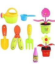 Kids Garden Tool Set Outdoor educatief speelgoed Backyard Buiten Toys planten van bloemen Watering Bloemen Vroege Puzzle Ouder-kind interactief speelgoed 1PC 52809 Type, Brain Game