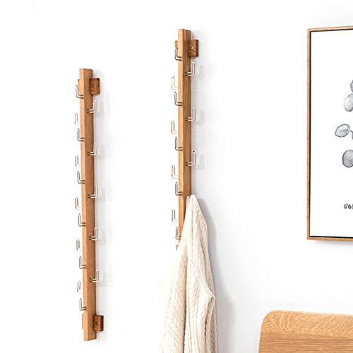 LARRY SHELL Perchero montado en la Pared, Perchero Moderno con 10 Ganchos, Instalado en el Dormitorio Perchero de baño Pared, para Bolsos Bufandas Ropa Bolso Paraguas