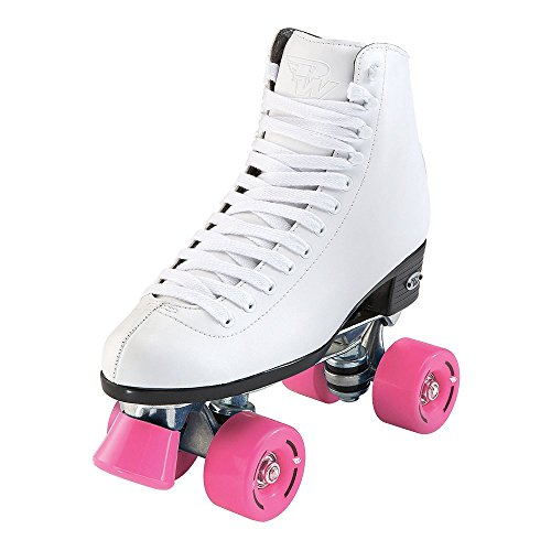 Riedell Skates - RW Wave - Quad Roller Skates for Indoor/Outdoor | White | Size 5 |