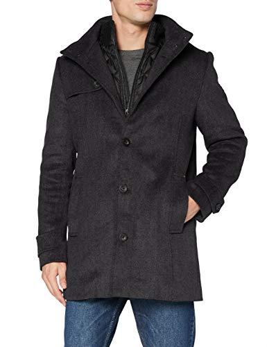 Tom Tailor 2-in-1 Wollmantel Abrigo de lana, 24254 Mini Struc - Juego de mesa [Importado de Alemania], M para Hombre