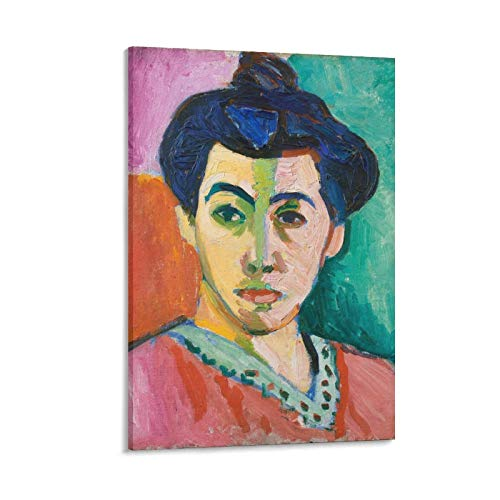YGTD Henri Matisse - Cuadro de pintura sobre lienzo sobre lienzo con diseño de retrato de Madame Matisse (50 x 75 cm)