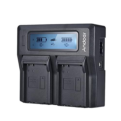 Carregador, ENEL14 Carregador de bateria para câmera LCD de canal duplo compatível com Ni-kon D5600 D5500 D5300 D5200 D5100 D3100 D3200 D3300 D3400
