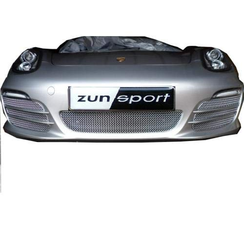 Zunsport Compatible with Porsche Boxster 981 - Front Grill Set (Without Parking Sensors) - Silver Finish (2012-2016)