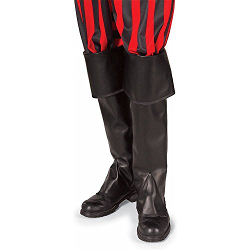 Pirate Boot Tops Costume Accessory Black set