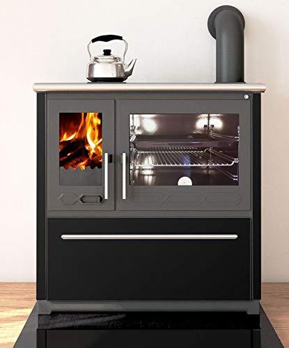 EEK A+ Küchenofen Holzherd Plamen 850 schwarz, rechte Version - 8 kW Dauerbrandherd