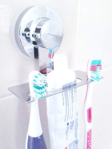Toothbrush Holder Suction Cup MIRROR, WALL, TILE, any surface mount, DOES NOT FALL, toothbrush holder wall mount