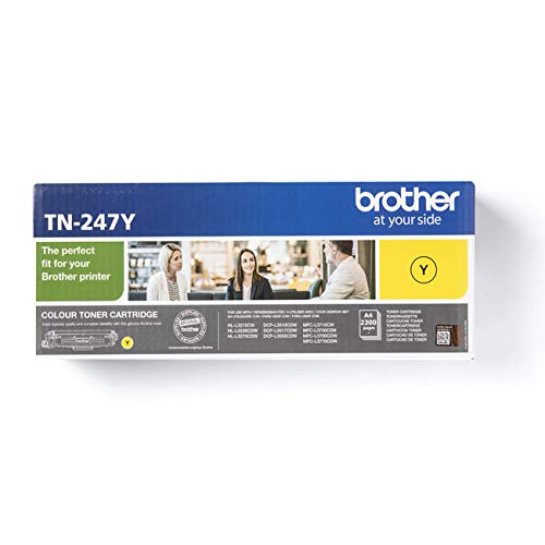 Original Brother Jumbo-Tonerkassette TN-247Y Gelb (für Brother DCP-L3510CDW, DCP-L3550CDW, HL-L3210CW, HL-L3230CDW, HL-L3270CDW, MFC-L3710CW, MFC-L3730CDN, MFC-L3750CDW und MFC-L3770CDW)