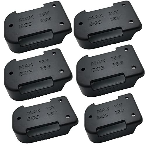 6PCS Akku Halterung, Batteriegürtelcliphalter Kompatibel mit Makita/Bosch Akku ,Batteriehalter Stealth Halterungen gürtelclip für 18V Akku (ohne Batterie)