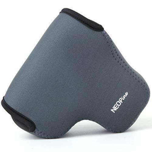 Ultraleichte Kameratasche Kamera-Schutzhülle aus Neopren Tasche kompatibel mit Sony DSC H300 HX200V HX200 HX100V HX100 HX1 (Grau)