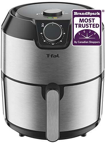 T-fal EY201D50 T-fal Easy Fry Prestige XL Air Fryer, Low Oil, Dishwasher Safe, Patented Basket System, 4.2L, Stainless Steel, Large