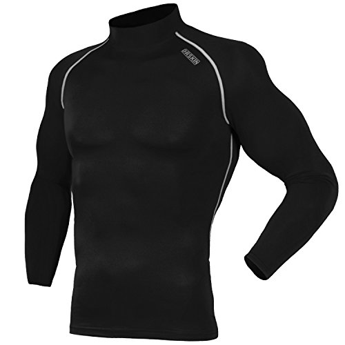 DRSKIN UV Sun Protection Long Sleeve Top Shirts Skins Tee Compression Base Layer (SB011, 3XL)