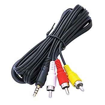 Audio/Video AV 3.5mm to 3-RCA 5ft Composite Cable for Canon Camcorders - by CyberTech
