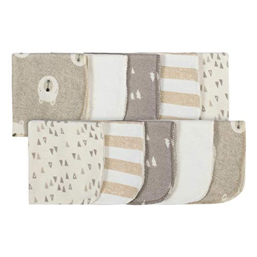 Gerber 10-Pack Washcloths, Oatmeal/Ivory, One Size