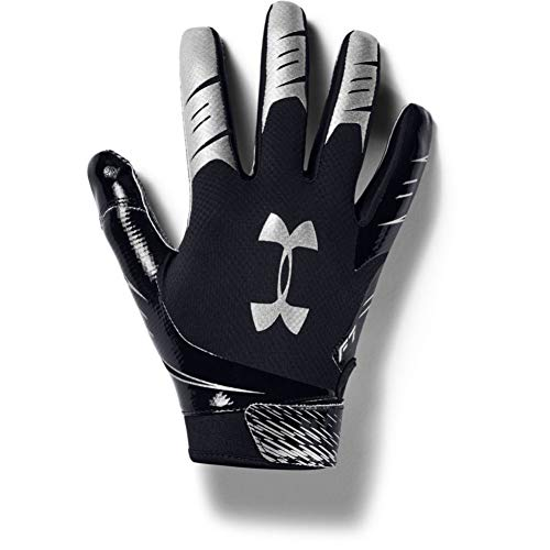 Under Armour Men's F7 Football Gloves , Black (001)/Metallic Silver , X-Large