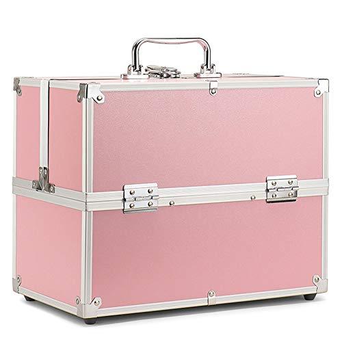 HZXLL Beauty Case cosmeticakoffers Nail Art Koffer Box sieradenstandaard nagellak voorwerpen make-up organizer, opvouwbaar (32 * 18 * 25 cm)