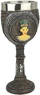 Design Toscano Egyptian Deities Sculptural Royal Goblet: Set of Two, Multi/Color