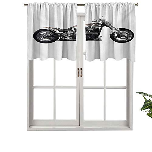 Cenefa de cortina opaca para motocicleta, estilo hipster, peligroso, arriesgado, conducción, acelerador de vehículos, juego de 2, 106,7 x 91,4 cm, tratamiento para ventana para sala de estar