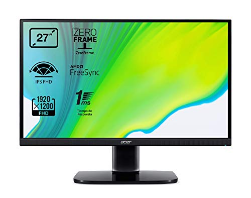 Acer KA272bi - Monitor de 27' FullHD (69cm, ZeroFrame FreeSync, tiempo de respuesta 1ms(VRB), 250nits, IPS LED, VGA, HDMI, EcoDisplay) - Color Negro