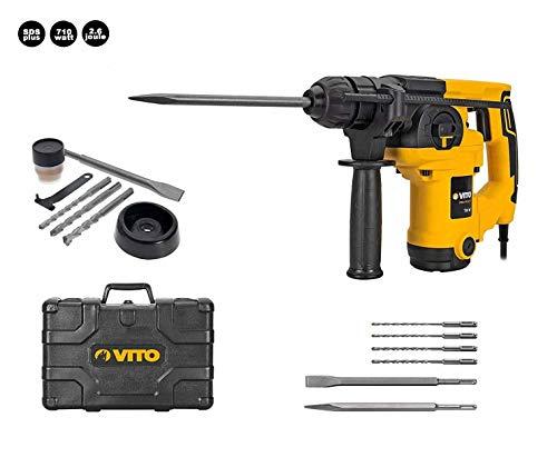 Martillo Percutor Hammer SDS Plus 710 Vito Pro-Power | Potencia 710W | Velocidad rotación 800 rpm | Frecuencia impacto 5000 ipm | 3 funciones