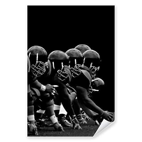 Postereck - 0142 - NFL, Schwarz Weiss Football Amerika USA Angriff - Wandposter Fotoposter Bilder Wandbild Wandbilder - Poster - 3:2-91,0 cm x 61,0 cm